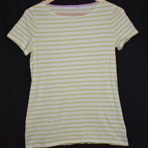 Boden women's green/white t-shirt sz 6
